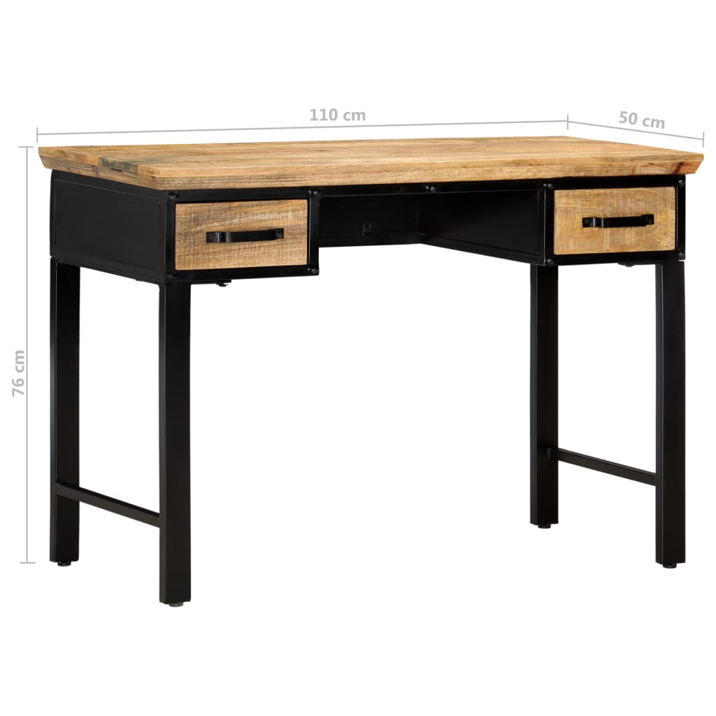 Writing Table 110x50x76 cm Solid Mango Wood