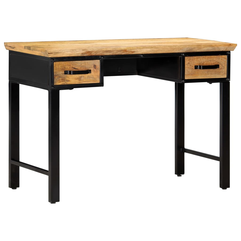 Writing Table 110x50x76 cm Solid Mango Wood | Furniture Supplies UK