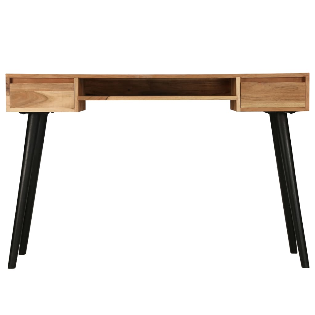 Writing Table Solid Acacia Wood 118x45x76 cm |  | Brown