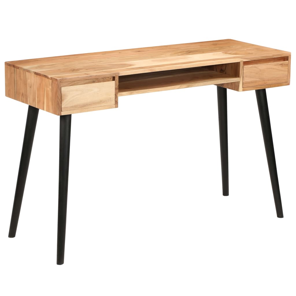Writing Table Solid Acacia Wood 118x45x76 cm | Furniture Supplies UK