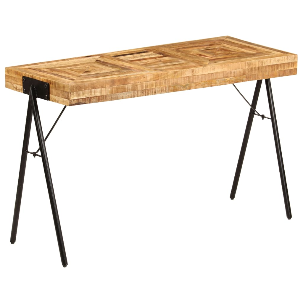 Writing Table Solid Mango Wood 118x50x75 cm | Furniture Supplies UK