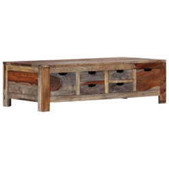 Zen Coffee Table Grey 100x55x30 cm Solid Sheesham Wood | Furniture Supplies UK