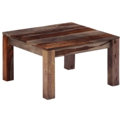 Zen Coffee Table Grey 60x60x35 cm Solid Sheesham Wood | Furniture Supplies UK