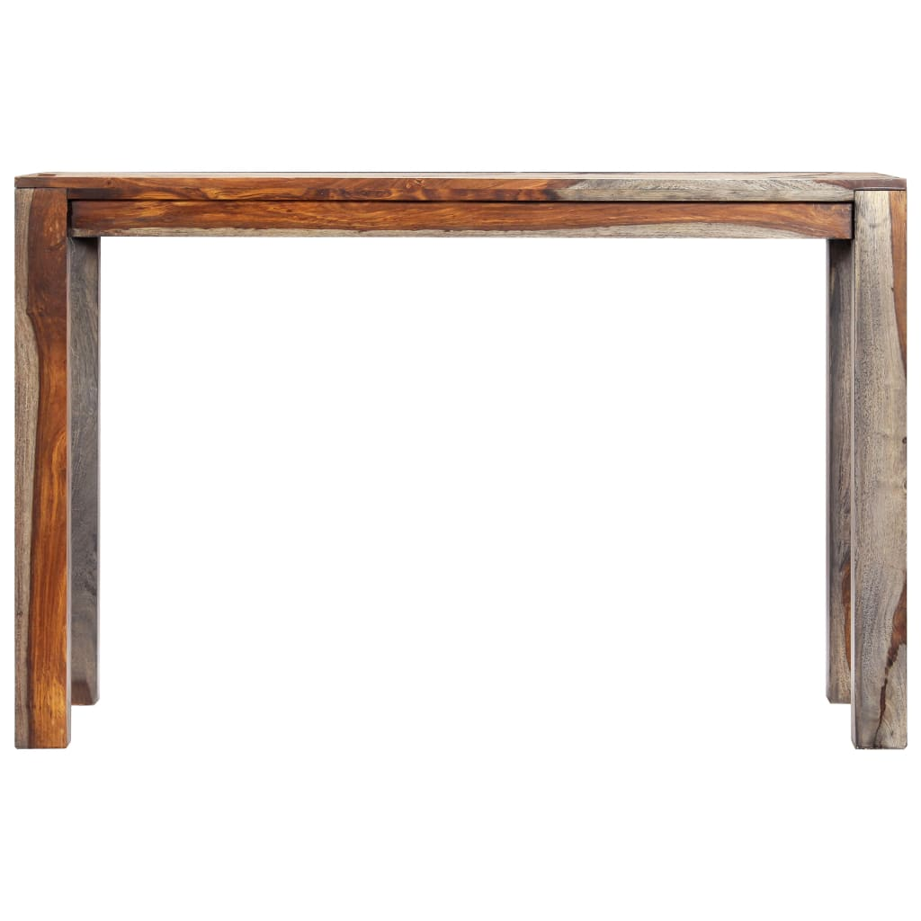 Zen Dining Table Grey 118x60x76 cm Solid Sheesham Wood |  | Green
