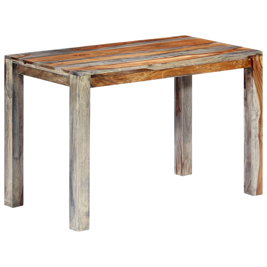 Zen Dining Table Grey 118x60x76 cm Solid Sheesham Wood | Furniture Supplies UK