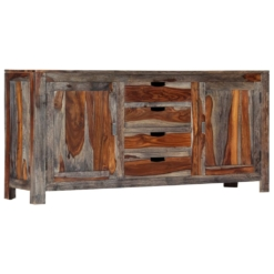 Zen Sideboard Grey 160x40x75 cm Solid Sheesham Wood | Furniture Supplies UK