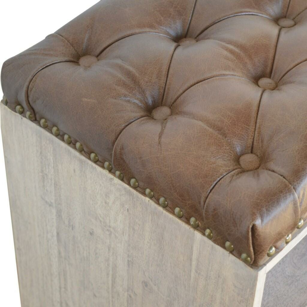 Leather Shoe Bench