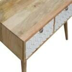 White Painted Geo Coffee Table 5