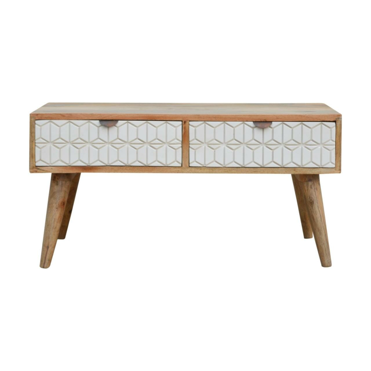 White Painted Geo Coffee Table