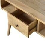 1 Drawer Curved Coffee Table 6