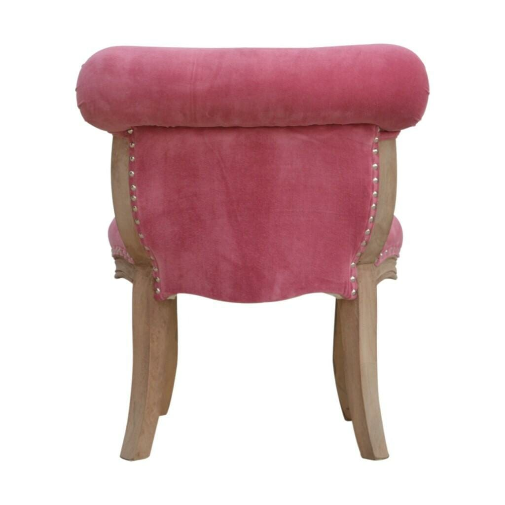 Petite French Chair In Pink Velvet