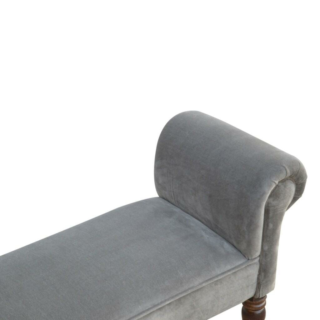 Bench In Grey Velvet