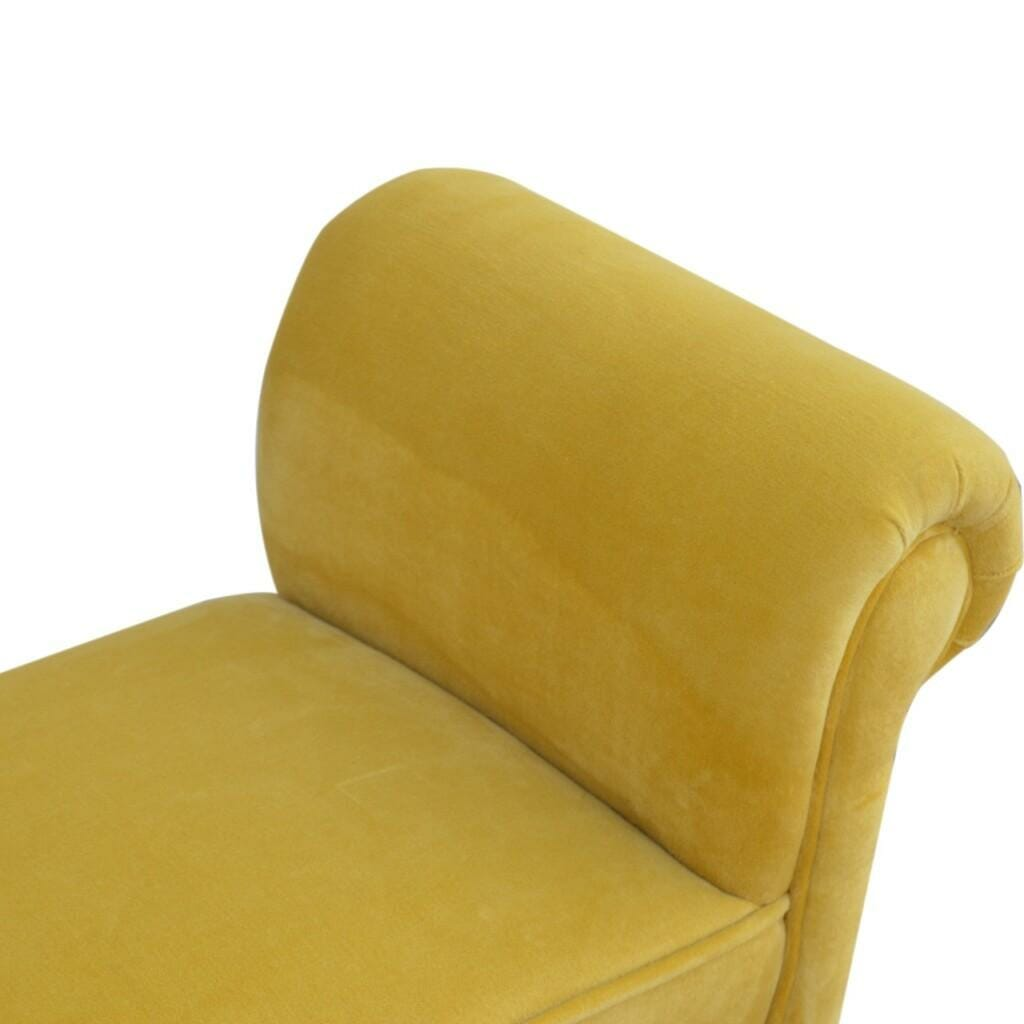 Bench In Mustard Velvet
