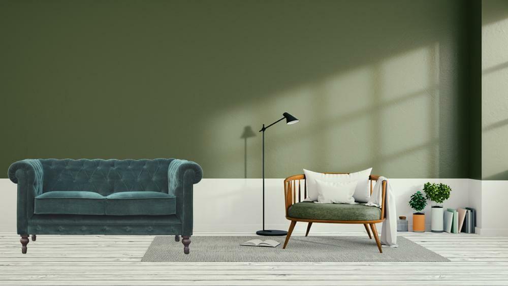 Emerald Green Velvet 2 Seater Chesterfield Sofa