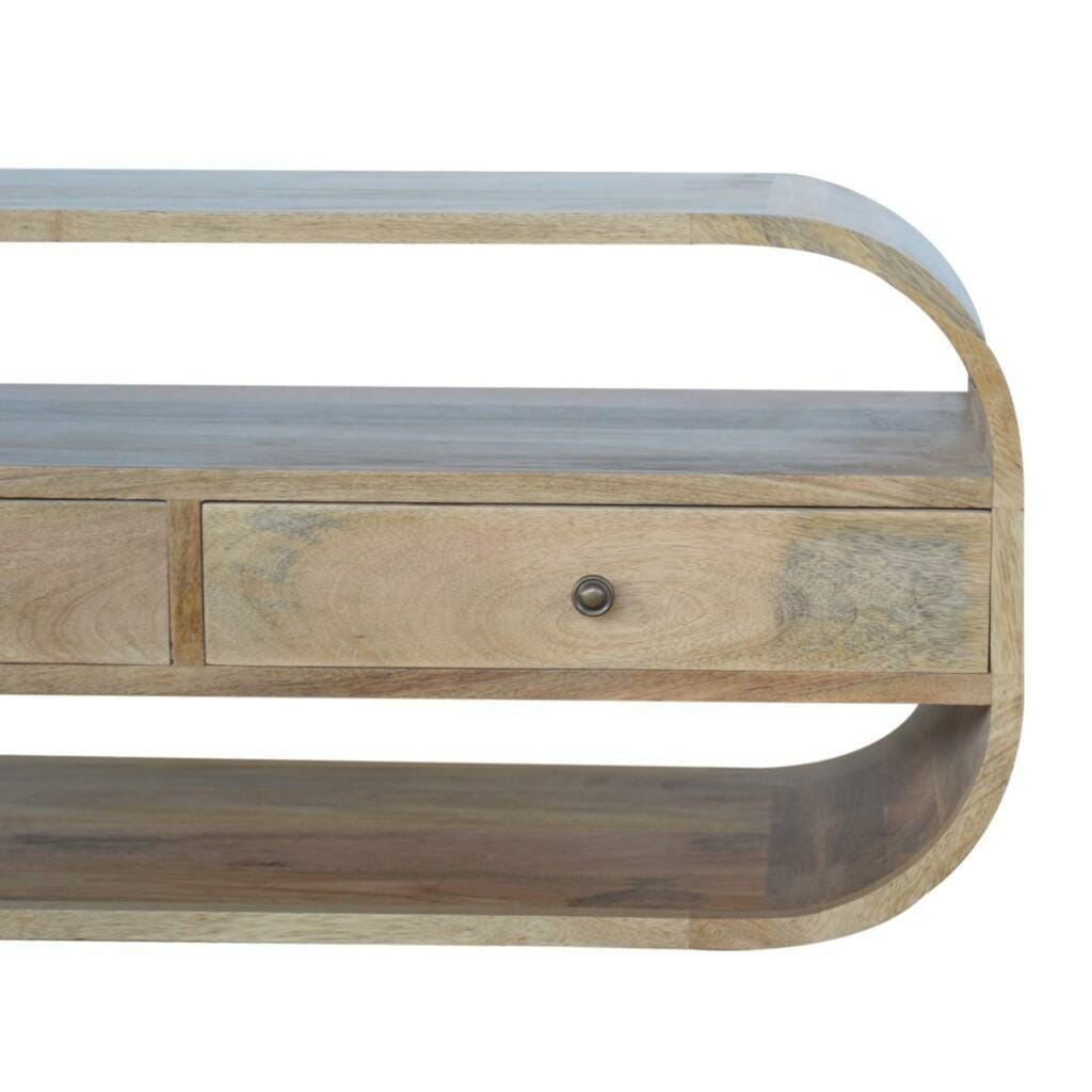 Circular TV Unit with 2 Drawers