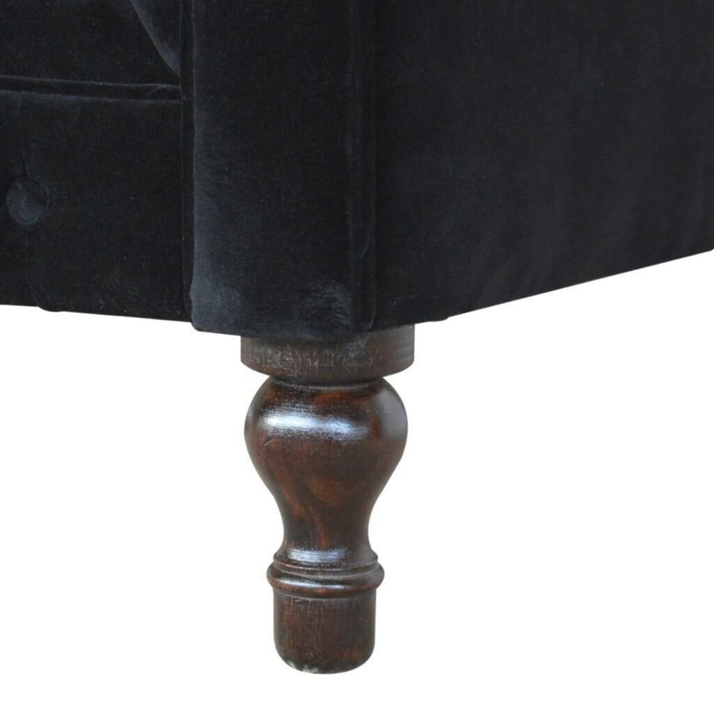 Black Velvet Chesterfield Sofa