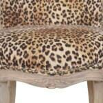 Leopard Print Studded Chair with Cabriole Legs 3