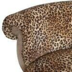 Leopard Print Studded Chair with Cabriole Legs 4