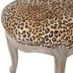 Leopard Print Studded Chair with Cabriole Legs 5