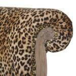 Leopard Print Studded Chair with Cabriole Legs 6