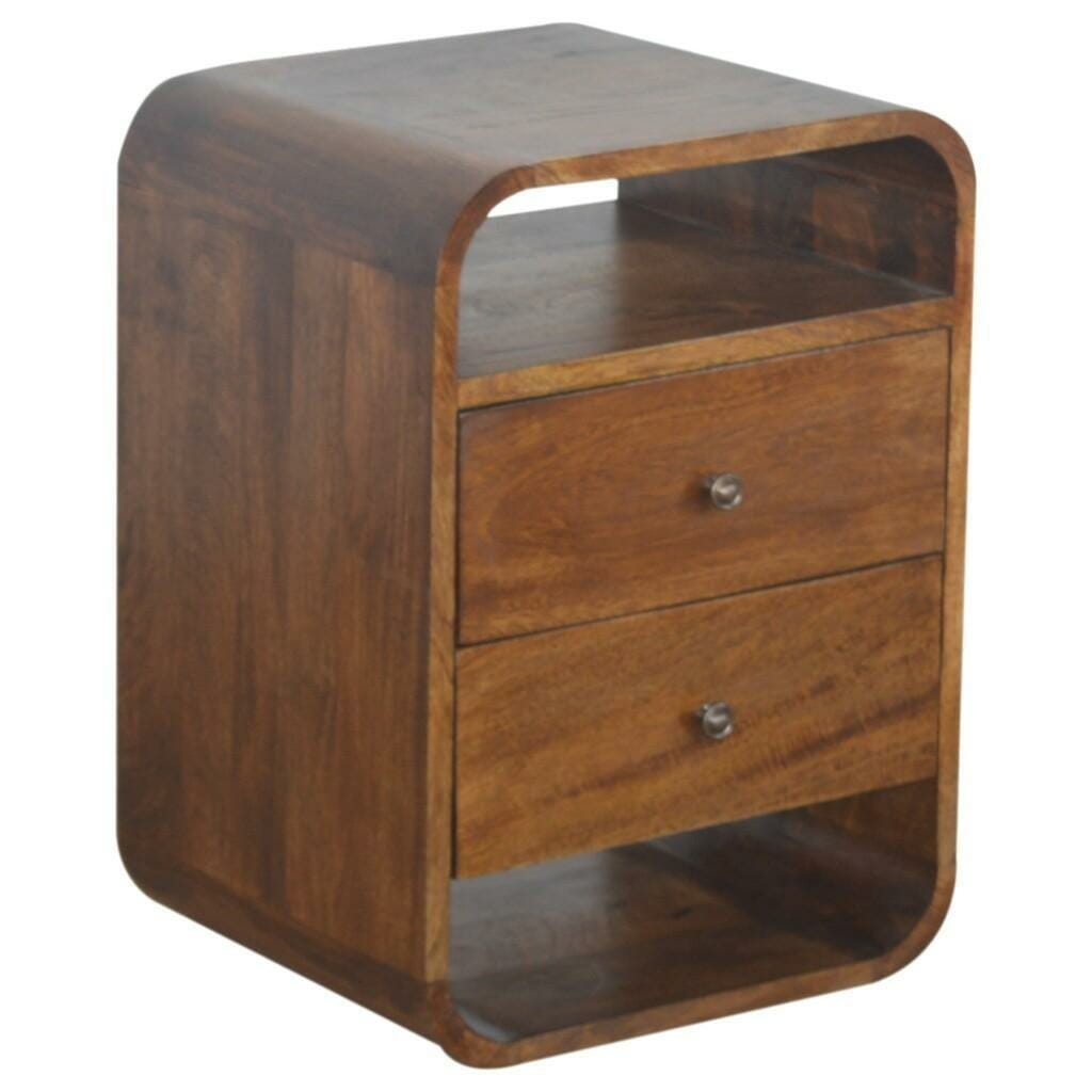 Chestnut Curved Edge with 2 Drawers