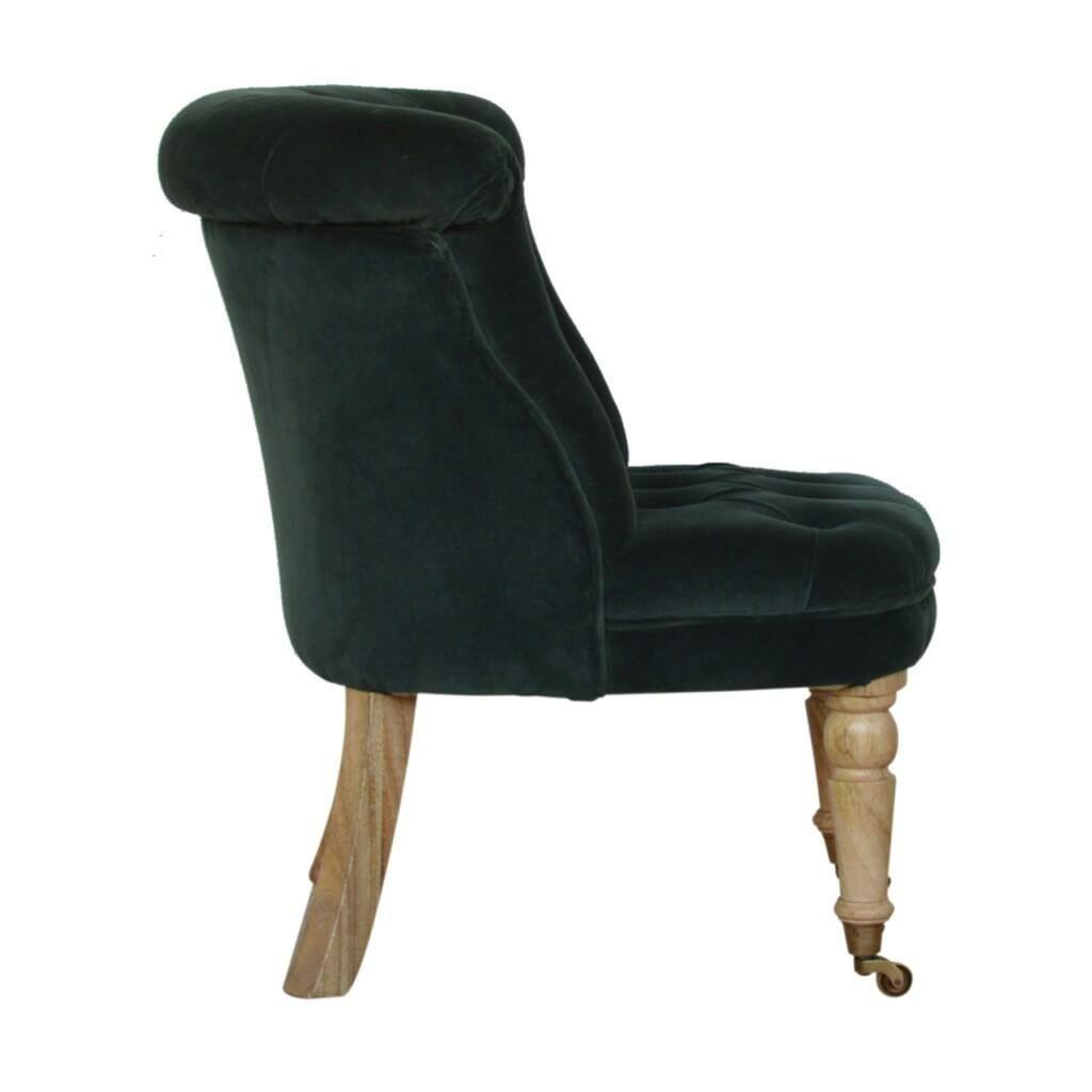 Emerald Green Velvet Accent Chair