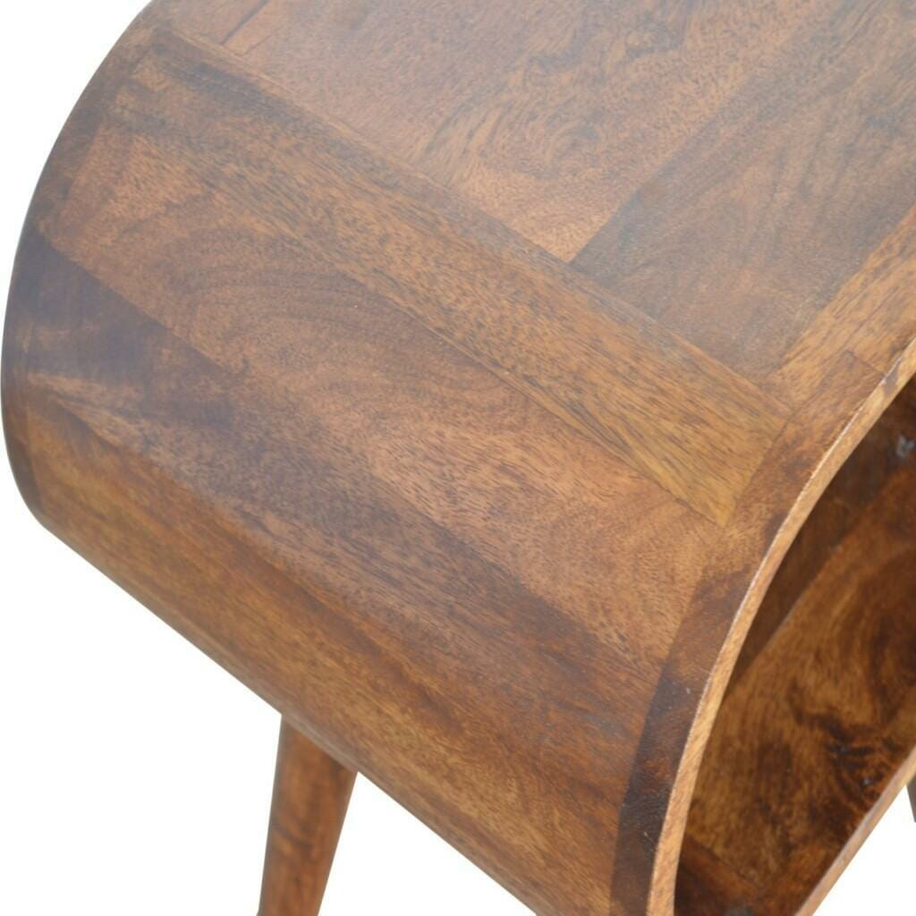Chestnut Circular Open Bedside