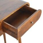 Chestnut Curved Edge Console Table 5