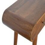 Chestnut Curved Edge Console Table 6