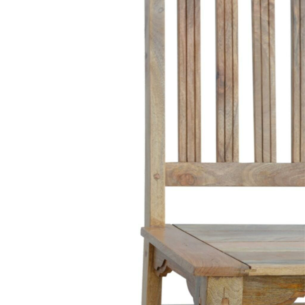 Chair with wood seat