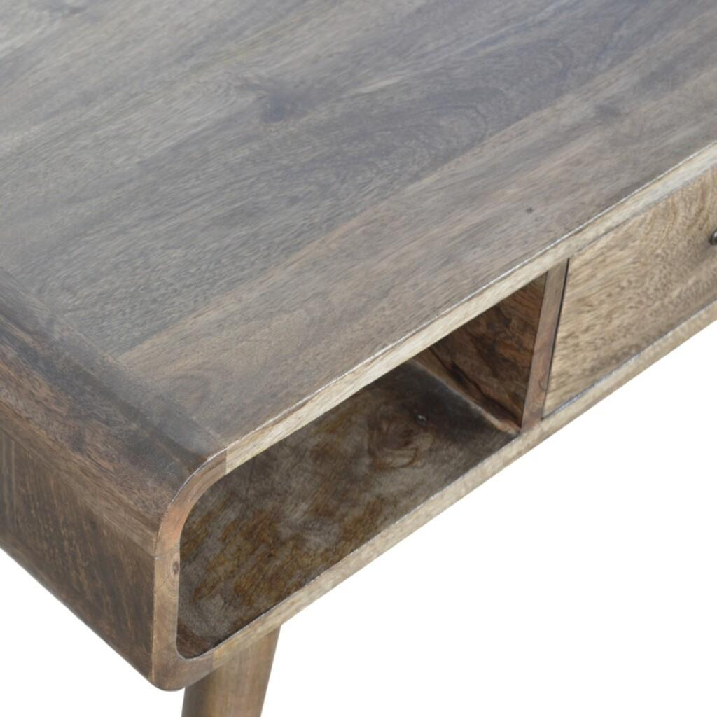 Curved Grey Washed Coffee Table