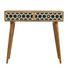 Console Table Bone Inlay Drawer Fronts