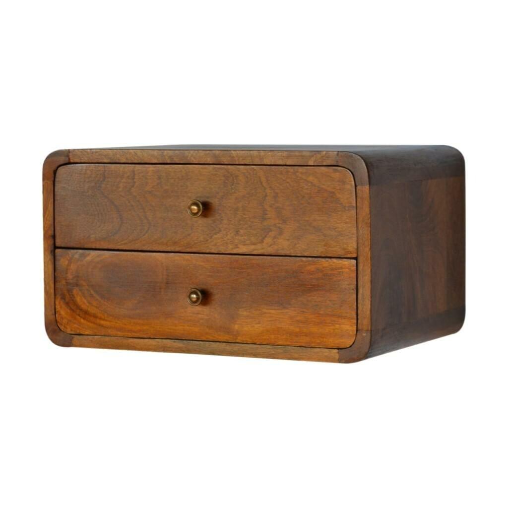 chestnut Wall Mounted Bedside