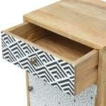 Mixed Pattern Bedside 7