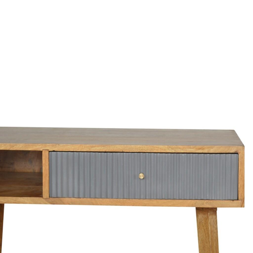 Line Grey Painted Writing Desk
