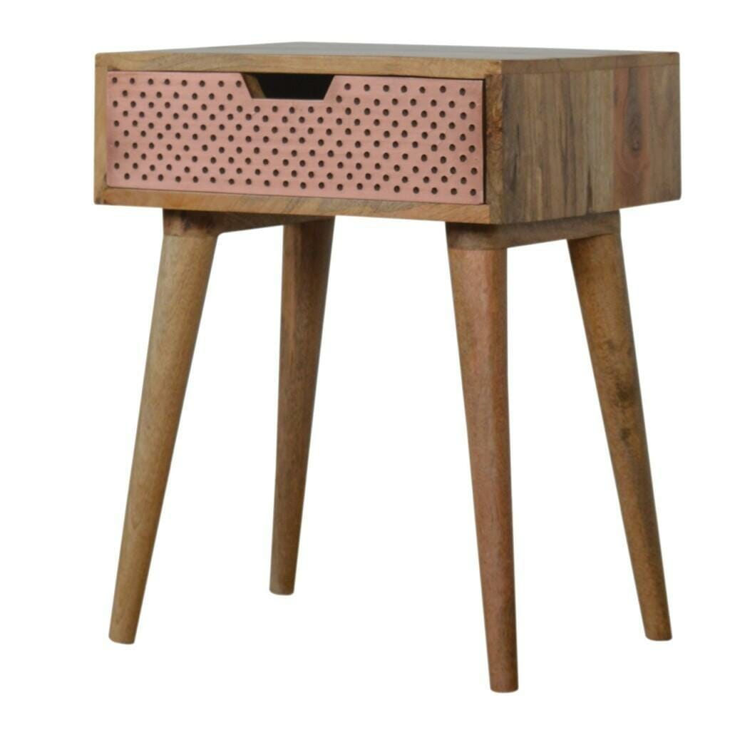 Perforated Copper Bedside