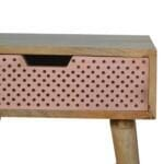 Perforated Copper Bedside 5