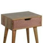 Perforated Copper Bedside 7