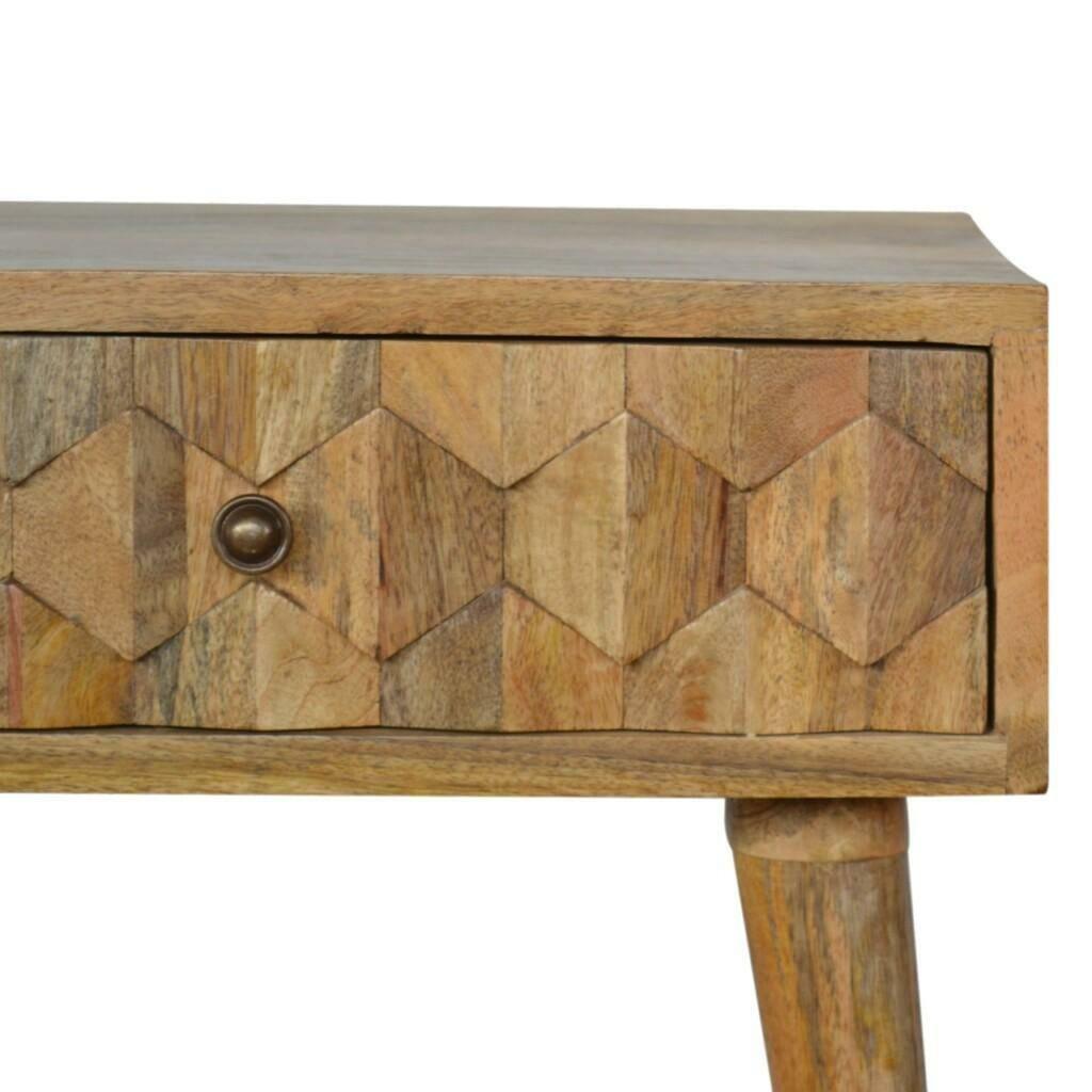 One Drawer Bedside Carved Front