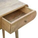 2 Drawer Console Table with Rounded Edges 5