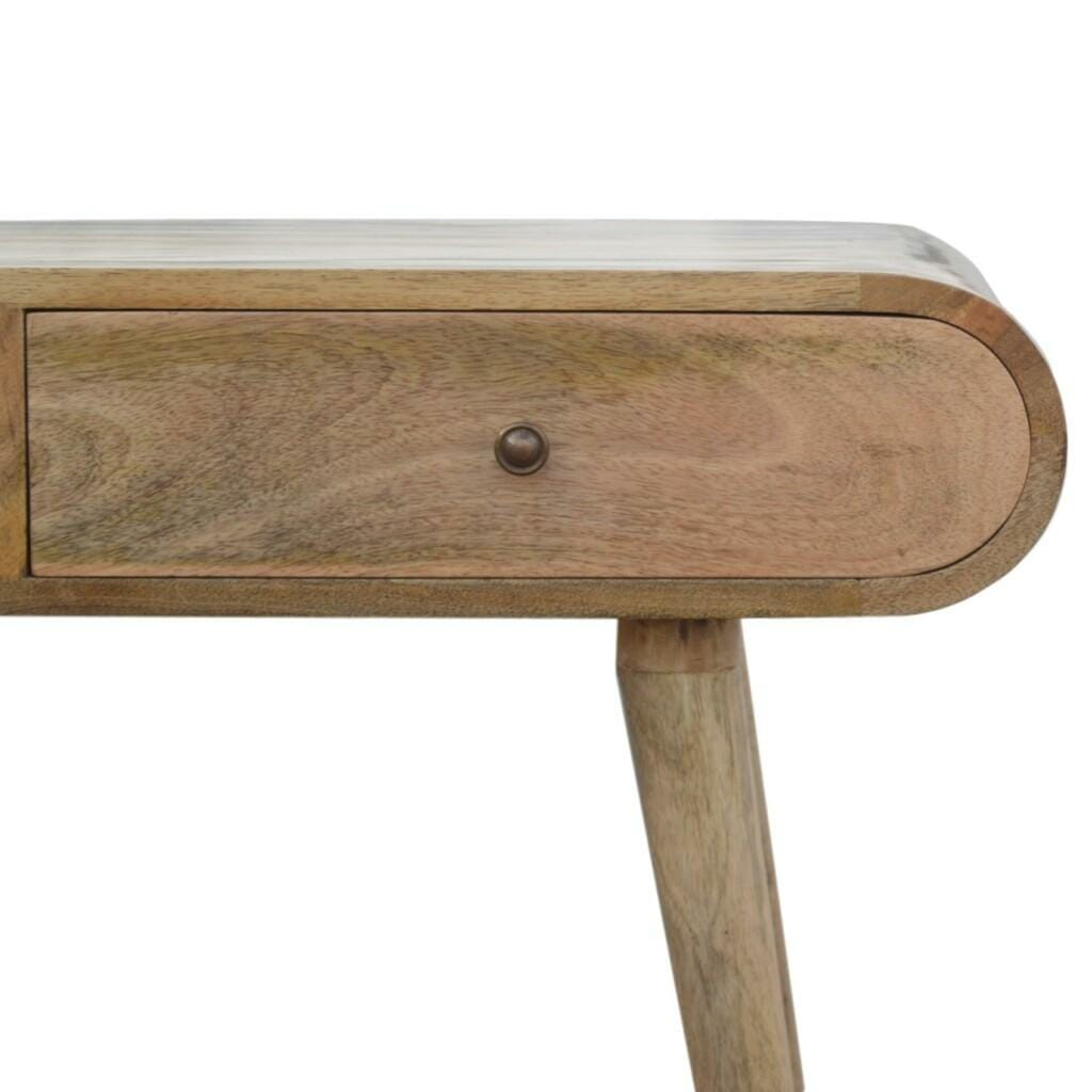 2 Drawer Console Table with Rounded Edges