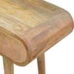 2 Drawer Console Table with Rounded Edges 7
