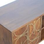 Chestnut Gold Inlay Abstract Media Unit 4