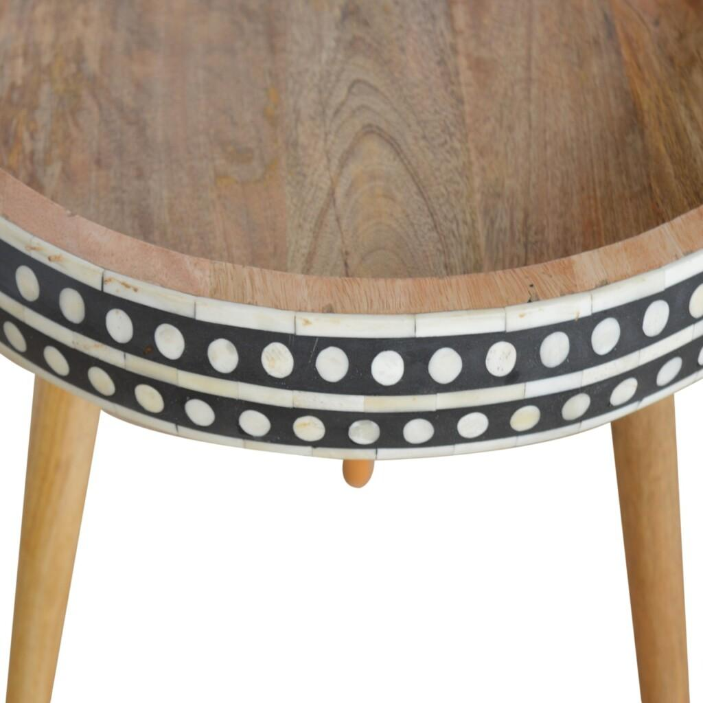 IN952 - Pattterned Nordic Style End Table
