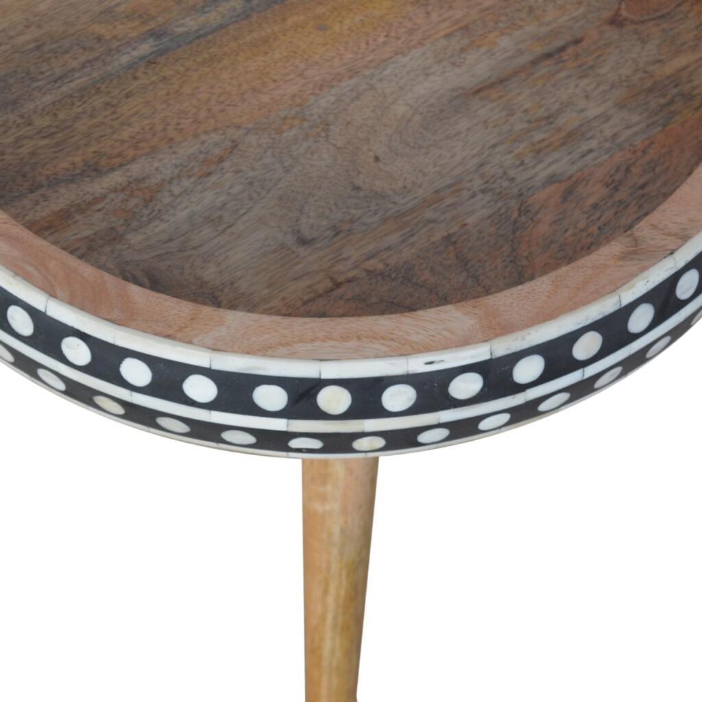 IN953 - Pattterned Nordic Style End Table