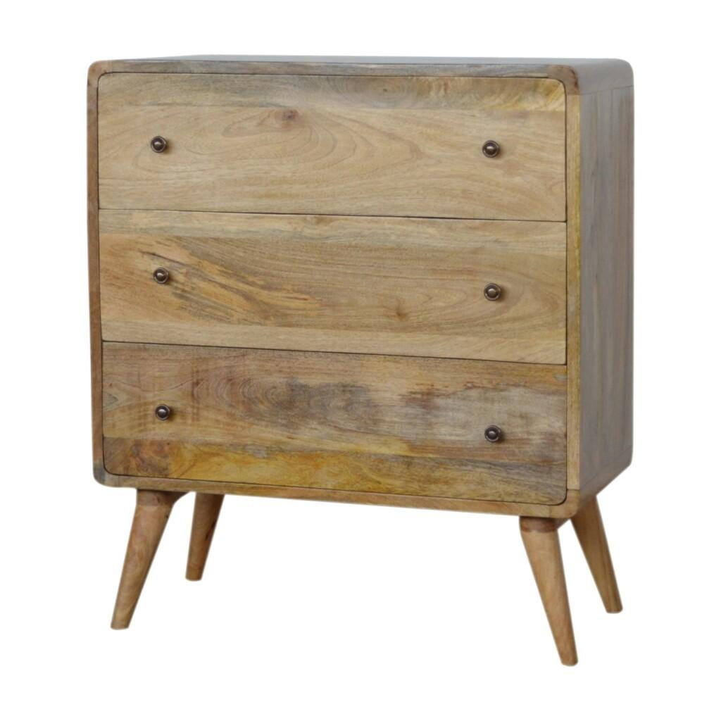 IN955 - Curved Oak-ish Chest