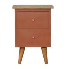 Rust Hand Painted Bedside