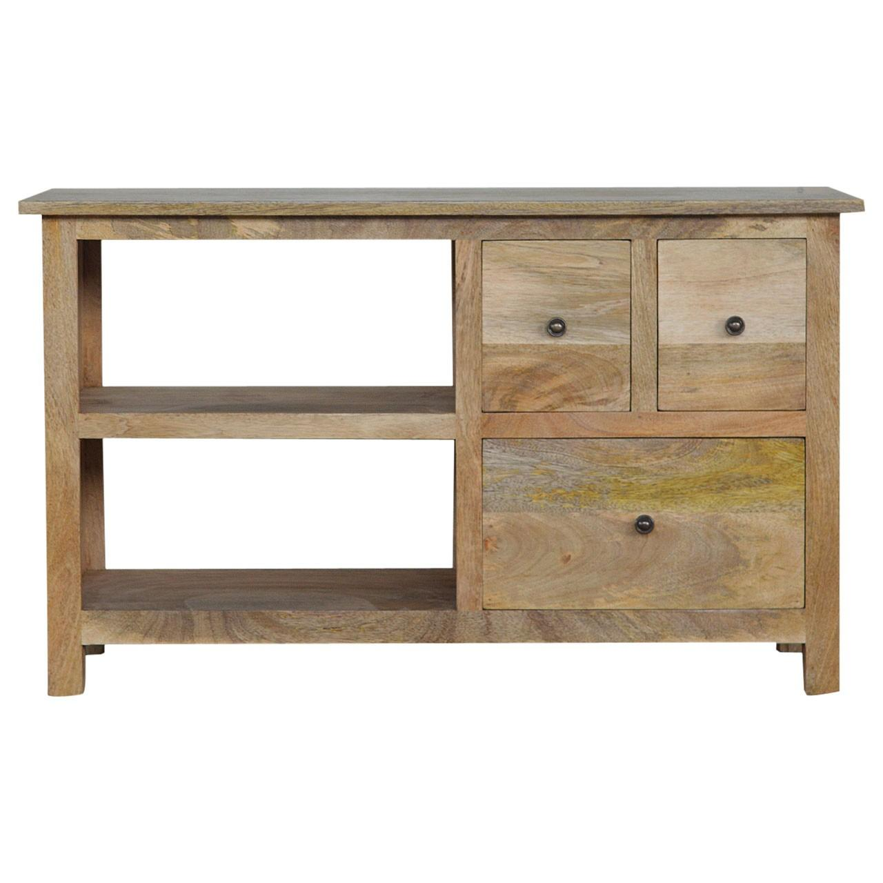 TV Unit with 3 Drawers & 2 Shelves
