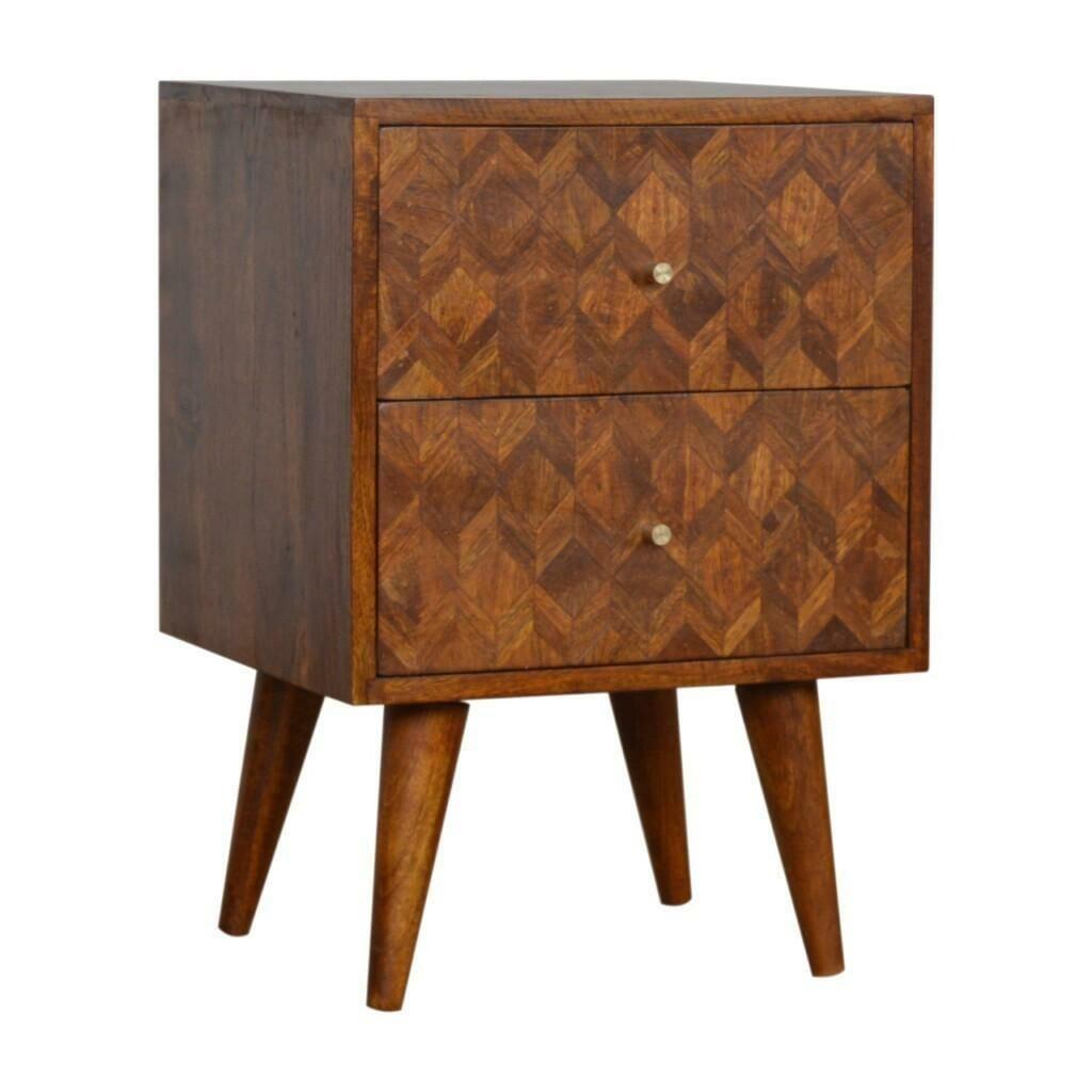 Assorted Chestnut Bedside Table Solid Mango Wood