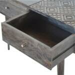 Ash Black 3 Drawer Console Table 7